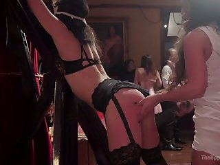 Syren De Mer doesn't mind being fucked during crazy bondage line