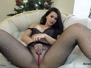 Amateur racy ass camgirl in stockings in pussy on webcam