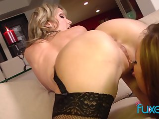 Tory Lane and Courtney Cummz 3some with messy facial grand finale
