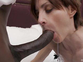 Breathing on burnish apply top of a stranger's black horseshit is burnish apply favorite sport of Ava Austen