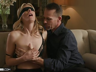 Threesome dazzle be required of sex-starved wife with small tits Mona Wales