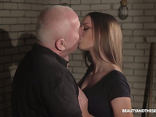 Young beauty Anna G is having crazy sexual congress fun with sex-hungry spy on