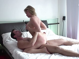 Big takings mom filmed when riding younger man's penis