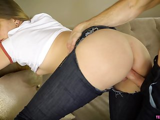 Big booty babe leaves this guy to work her pussy a few times