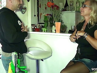 Heavy Tits German Mom Pay The Window Cleaner respecting Sexual intercourse
