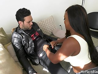 Chubby baleful chick Jayden Starr is fucked hard by white cocky dude