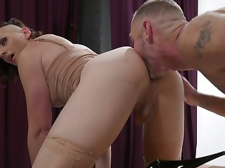 Slutty shemale ass fucks her challenge after she gets ass licked