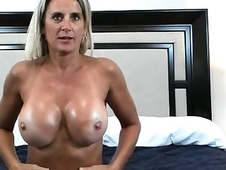Striptease From Sexy Milf Connected with Deception Boobs