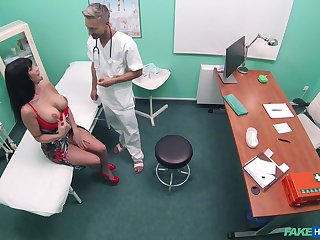 Brunette sexual relations bomb Valentina Ricci in high heels having sexual relations