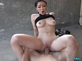 Asian beauty sure knows proper riding XXX skills