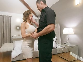 Police bureaucrat fucks juggy wife Alexis Fawx progress the brush husbands