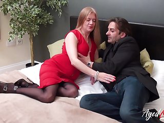 Mature lady got seduced and fucked hardcore way in all possibility positions