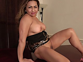 53 y.o. GILF Roxy Rocks hot solo session