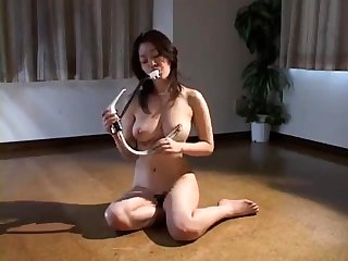 BDSM video shows busty Asian floozy getting fucked
