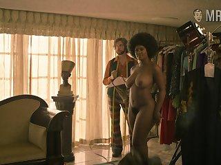 Curvy Toni Duclottni standing fully naked as soon as she disrobes on a photo shoot