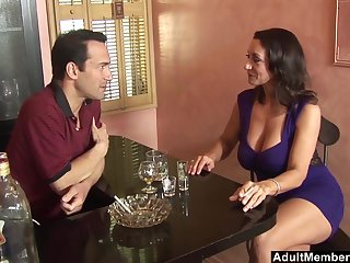 Save for video of mature pornstar Persia Monir pleasuring a large dick