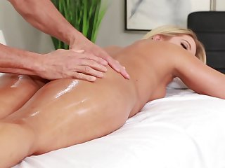 MILF enjoys massage and carnal knowledge overhead a spicy combination