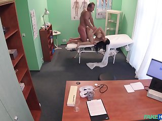 Energized babe fucked by the doctor and taped in secret