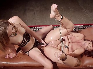Dirty  BDSM pussy take effect for two insolent lesbians