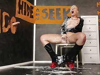Dirty MILF covered in plummy check d cash in one's checks a rough glory aperture experience