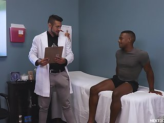 Black impoverish falls for his energized doctor with a big dick