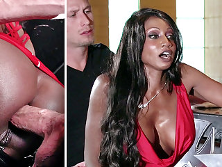 Bartender banged buzzed body of men ass making out on every side 3some